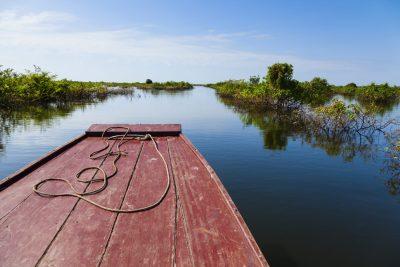 Blick vom Boot auf den Tonle Sap See - Kambodscha
