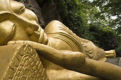 Liegender goldener Buddha - Laos