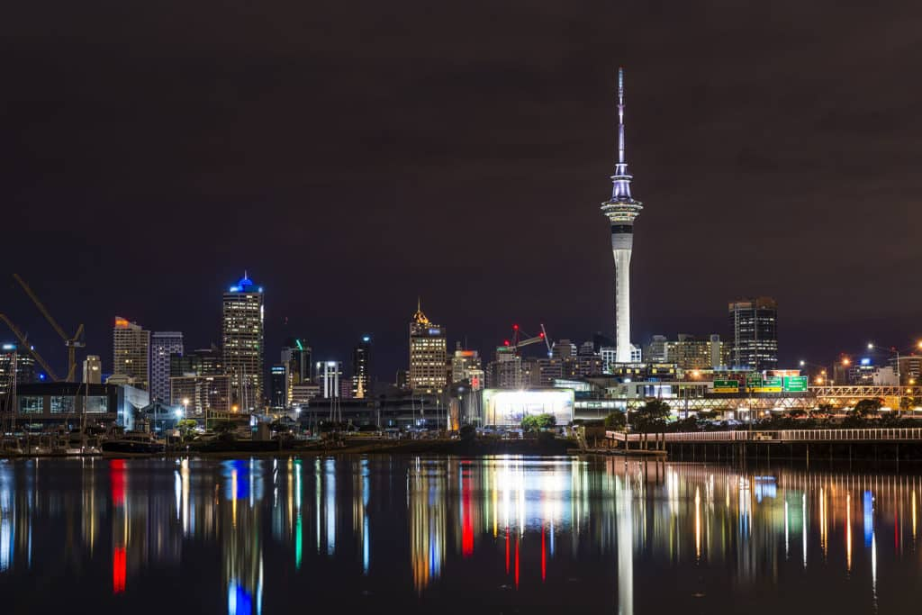 Neuseeland - Sky Tower in Auckland