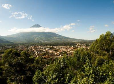 Stadtpanorama - Antigua - Guatemala