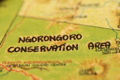 Ngorongoro Karte - Tansania