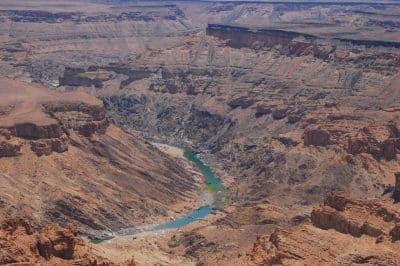 Wasser im Canyon - Fish River Canyon