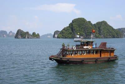 Boot in der Halong Bucht - Vietnam