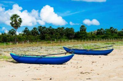 Sri Lanka Rundreise - Fischerboote - Passikudah